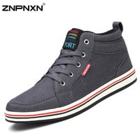 New 2015 Fashion Sneakers Men Canvas Shoes Casual Sport Shoes Men Brand High Top Sneakers Mens Trainers Zapatos Hombre