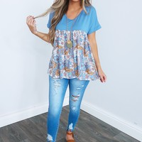 Time To Bloom Top: Multi