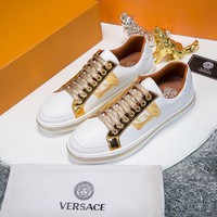 Versace  Men Fashion relaxation exercise shoes