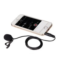 Movo PM10 Deluxe Lavalier Lapel Clip-on Omnidirectional Condenser Microphone for Apple iPhone, iPad, iPod Touch & Android Smartphones