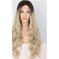Jennie- Black Ombre Blonde Heat Resistant Hand Tied Synthetic Lace Front  Wig