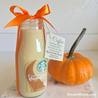 Pumpkin Spice Starbucks Frappuccino Coffee Candle Fall Decor Autumn