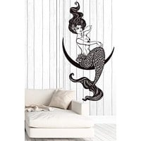 Vinyl Decal Wall Sticker Sexy Mermaid Fantasy Girl Ocean Home Decor Unique Gift (z4608)