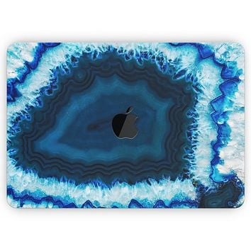 """Vivid Blue Agate Crystal - Skin Decal Wrap Kit Compatible with the Apple MacBook Pro, Pro with Touch Bar or Air (11"""", 12"""", 13"""", 15"""" & 16"""" - All Versions Available)"""