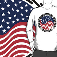 Korean American Multinational Patriot Flag Series by Carbon-Fibre Media