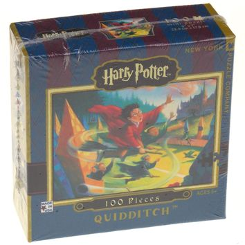 Harry Potter Mini 100 Pc Jigsaw Puzzle Quidditch New York Made USA