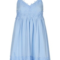 Applique Babydoll Sundress