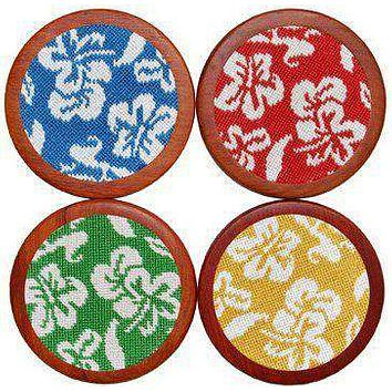 Hibiscus Coasters in Multicolor by Smathers & Branson