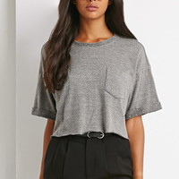 Heathered Terry Knit Top