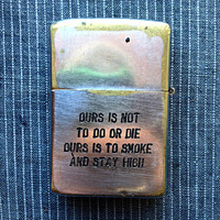 "Vintage Genuine Vietnam War Era Engraved Zippo Lighter Cartoon Character Duck ""What a Goofy F*ing War"" 1964-1965"