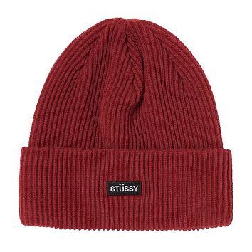 HO20 Small Patch Watchcap Cuff Beanie Cardinal