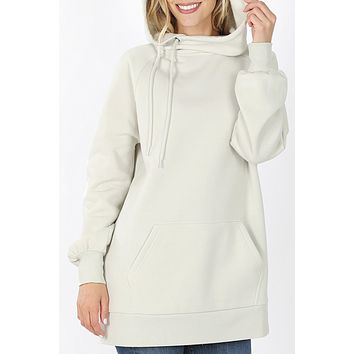 Oversized Relaxed Fit Pullover Longline Hoodie SweatShirt