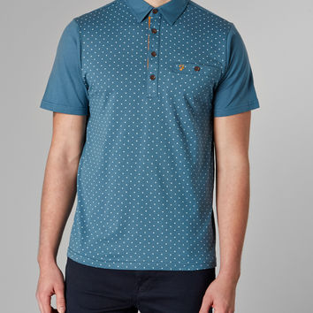 Farah Vintage Polo Shirt with Print