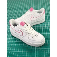 Nike Air Force 1 Low 07 Af1 White Pink Women's Fashion Shoes