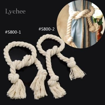 1 Piece Twisted Rope Curtain Tieback Holdbacks Pastoral Style Tassel Curtains Buckle