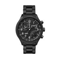 Timex Men's Intelligent Quartz Fly-Back Black Ion-Plated Stainless Steel Chronograph Watch - TW2P60800DH