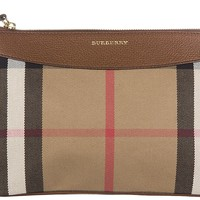 BURBERRY WOMEN'S CLUTCH WITH SHOULDER STRAP HANDBAG BAG PURSE NEW PEYTON BE B3A