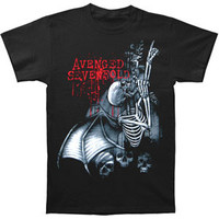 Avenged Sevenfold Men's  AVS Spine Climber Mens Regular T T-shirt Black