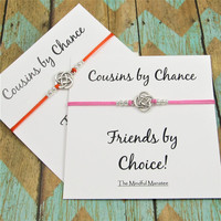 Matching Cousin Bracelets   Celtic Knot Bracelets   Gift for Cousin   Cousins by Chance, Friendship by Choice Card   Cousins Gift