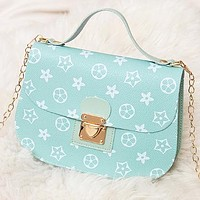 New fashion print leather crossbody bag shoulder bag handbag