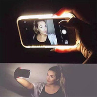 Luxury led selfie Phone Case Cover For iPhone 6 6s 4.7 Plus 5 5S SE For Samsung galaxy s6 s7 Fashion Back Protection Cover