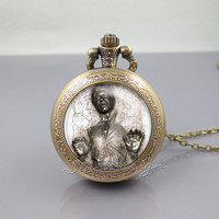 Han Solo Pocket Watch Locket Necklace,Han Solo Frozen in Carbonite Star Wars,vintage pendant Pocket Watch Locket Necklace