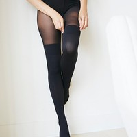Free People Secret Sock Cable Tights