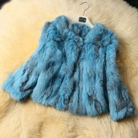 Real fur jacket, 2017 New Women Genuine Rabbit Fur Jacket Genuine Rex Rabbit Fur Coat Winter Real Leather Fur Outwear 9 Colors