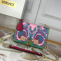 size:24-7-16 cm Versace women shoulder bags handbag Autumn and Winter new arrived colorful pink Leather Neverfull Tote Handbag Shoulder Bag Shopping Bags Purse Wallet
