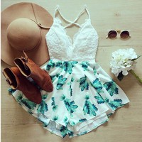 lace and teal floral   Spoiled Rotton