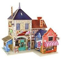 Kids Wooden Toys Jigsaw 3D Wooden Puzzle House Building Educational Toys For Children Chalets Wood Puzzles Kids Toys