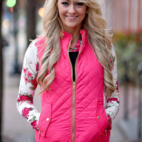 Quilted Vest ~ Pink