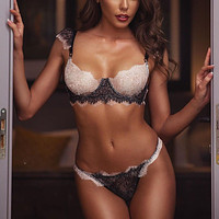 Women Langerie Sexy Lace Bra Garter Panties Underwear Set Erotic Sexy Lingerie Babydoll Costumes Baby Doll Lenceria Sex Clothes