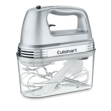 Cuisinart® 7-Speed Electric Hand Mixer in Brushed Chrome with Storage Case