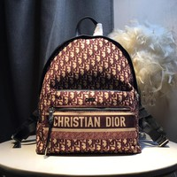 Kuyou Gb59717 Dior Monogram Backpack 30x 15x42cm