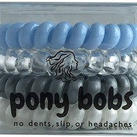 Best Ponytail Elastic Hair Ties, Holds Thick Hairstyles, Great Tie Scrunchies for Extensions (Ice)