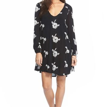 Urban Outfitters   Emma Embroidered Swing Dress   Nordstrom Rack