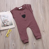 Beary Burgundy Jumpsuit