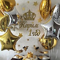PuTwo 18 inch Foil Balloons 32 Packs+100 Spot Glue for Kids Party Supplies Wedding Decoration Baby Shower or Birthday Decoration - Colourful Dot