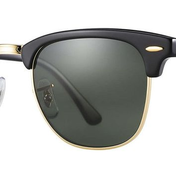 Ray-Ban RB3016 901/58 Clubmaster Classic Black Sunglasses