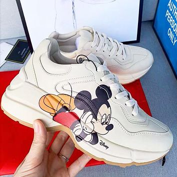 Disney & GUCCI New fashion mouse print couple running shoes