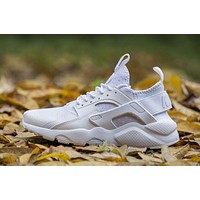 Nike Air Huarache 4 Rainbow Ultra Breathe Men Women Hurache White Running Sport Casual Shoes Sneakers - 115