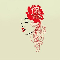 Decorative Wall Stickers - People Wall Stickers People / Fashion / Florals Living Room / Bedroom / Bathroom