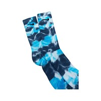 Nike Dri-Fit Tie Dye Gray Light Blue White Socks