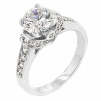Rhodium Plated Regal Ring JGI
