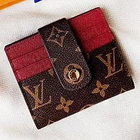 Hipgirls LV Louis Vuitton New fashion monogram leather wallet purse women handbag
