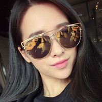Golden Anti-reflective Color Lens Polarized Sunglasses
