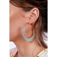 Just Bead It Hoop Earrings (Multi)
