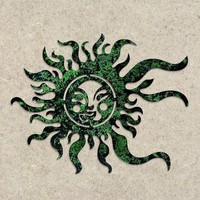 Green Sun Face Wall Decor - New Item! - Happy Gardens