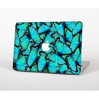 """The Turquoise Butterfly Bundle Skin Set for the Apple MacBook Pro 13"""" with Retina Display"""